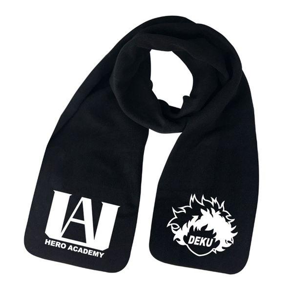 2019 Moda Otoño Invierno bufanda animado Boku No Hero Academia bufandas de lana abrigo del mantón de la bufanda caliente 160cm * 25cm