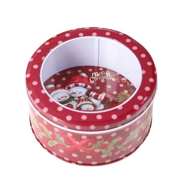 Christmas Candy Gift Tin Box Kids Gift Mailbox Case Christmas Santa Claus Snowman Printed Sealed Jar Packing Boxes Decor New