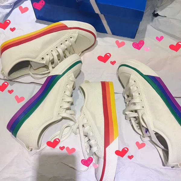 2019 Originals PRIDE NIZZA Clover Casual Shoes Rainbow Mandarin Duck Women Mens Lover Sneakers Fashion Luxury Skate des Chaussures Schuhe