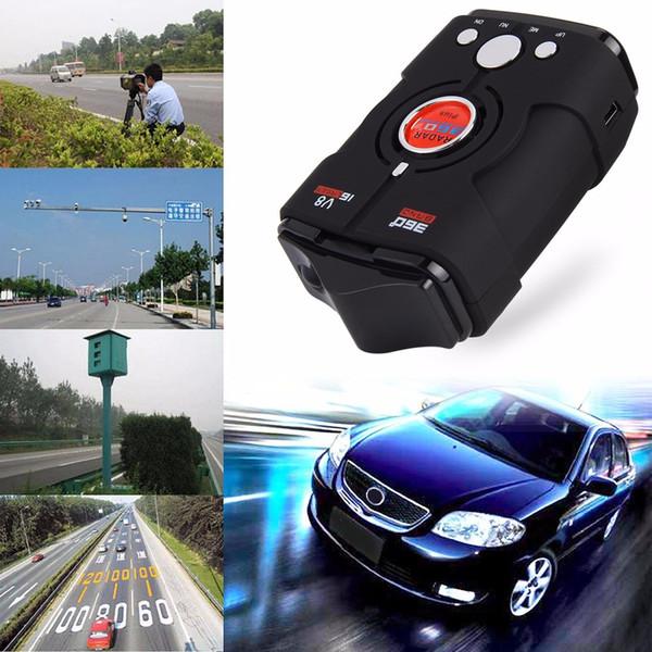 Détecteur de radar à laser de haute qualité pour camionneur de vitesse V8 avec avertissement vocal 16 bandes automatique 360 degrés système de contrôle 30