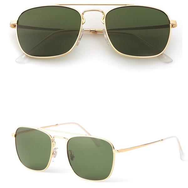 Hot Brand Square Sunglasses Men Women G15 Glass Lens Sun Glasses Women General Style Classic Retro Sunglasses 3588 with Original Box