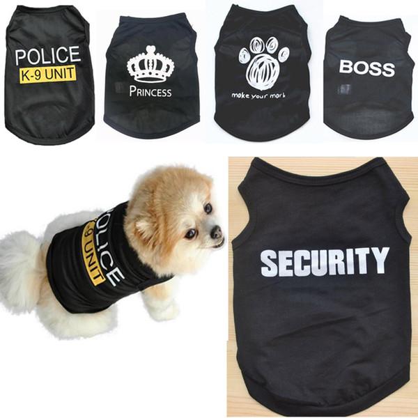 Verão Cão de Estimação Camisa Preta Roupas Quentes para Pequenos Cães Gatos Colete Camisas Preço Barato Por Atacado