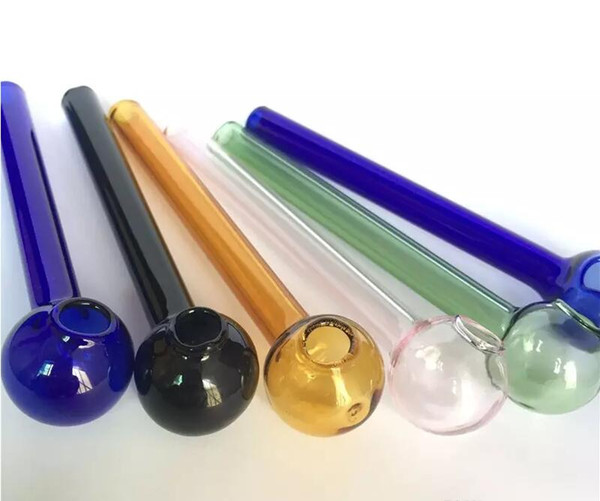 10 cm Più Economico Colorful Pyrex Vetro Bruciatore di Olio Tubo Tubo di Vetro Tubo Fumatori Tobcco Herb Olio di Vetro Unghie bg12