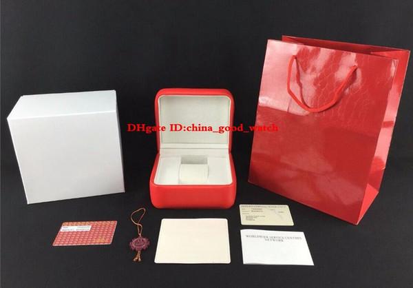 Nouveau Meilleure Qualité Montre Original Box Documents En Cuir Boîtes Sac À Main Pour Planet Ocean Co-Axial Skyfall James Bond 007 CAL.8500 8900 Montres