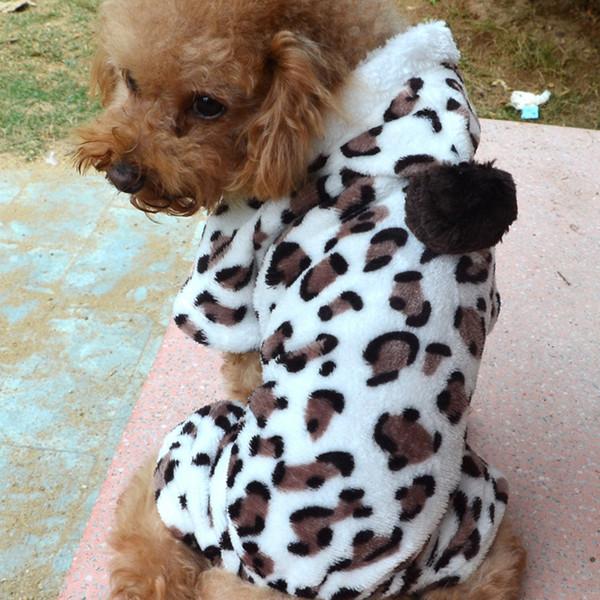 Moda Pet Puppy Vestiti caldi Inverno Pet Dog Coral Fleece Vestiti Cane Cappotto Hoodies Renna Snowflake Jacket Apparel M-XL DH0984-1