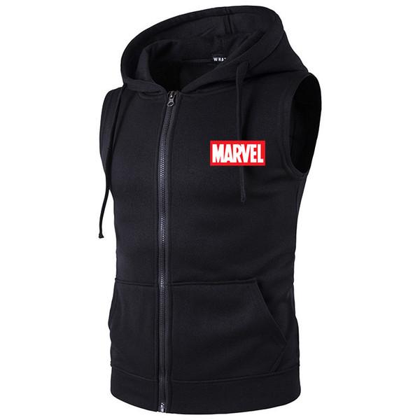 Brand JUST Men Fashion Solid Sleeveless Hoodies Cardigans Jacket Autumn Spring Zipper Pockets Waistcoat Tops DO IT vest biker
