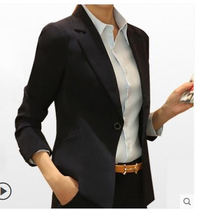 2019 весна женщина мода формальные черные пиджаки леди Интервью офис пиджаки