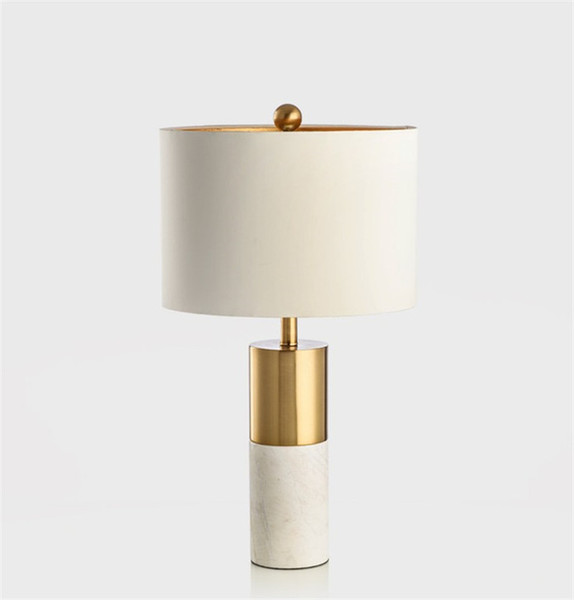 Tavolo In Marmo Bianco.Acquista Lampada Da Tavolo In Marmo Bianco Di Lusso Moderno In