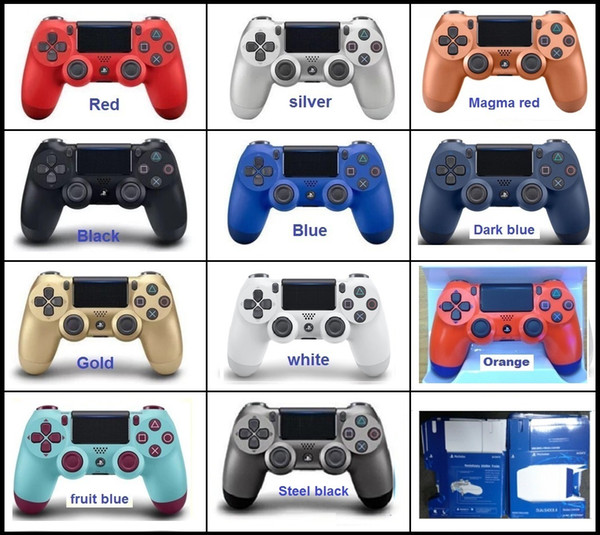 11colors SHOCK4 Wireless Controller TOP quality Gamepad for sony PS4 Joystick with Retail package LOGO Game Controller free DHL shipping
