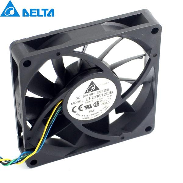 Pwm fan 1 pcs 8 CM 80 MM 8015 8 * 8 * 1.5 CM 80 * 80 * 15 MM 12 V 0.5A 4-fio PWM Ventilador EFC0812DB Refrigeração Delta