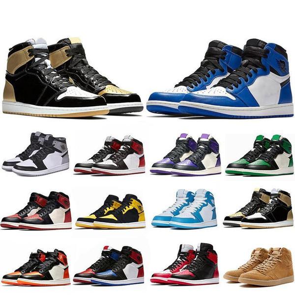 Newest 2019 1 1s Mens Basketball Shoes Not For Resale Red Yellow paris saint german Top 3 UNC Designer Sport Sneakers EUR 40-47