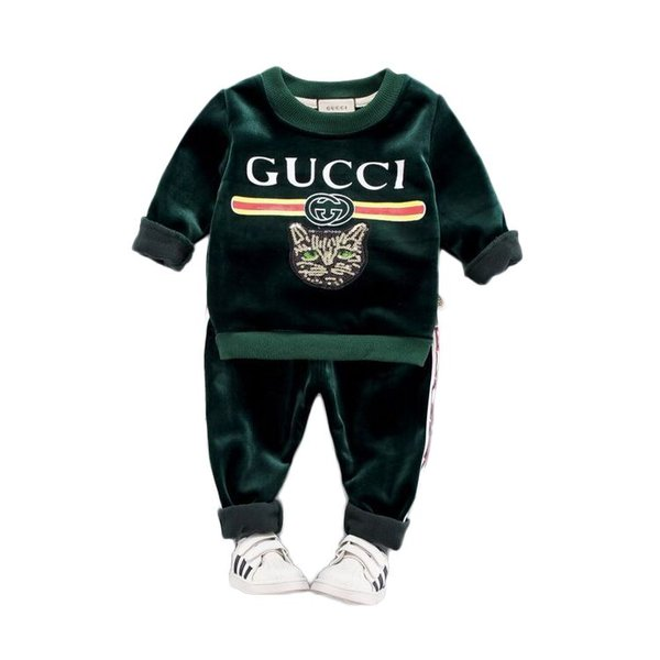 Спот-акция Детская одежда для мальчиков и девочек осенне-зимний костюм утолщенны