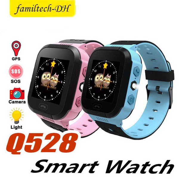 Q528 Touch Screen Watch Anti-lost Children Kids Smart watch LBS Tracker Wrist Watchs SOS Call For Android IOS waterproof smart watches