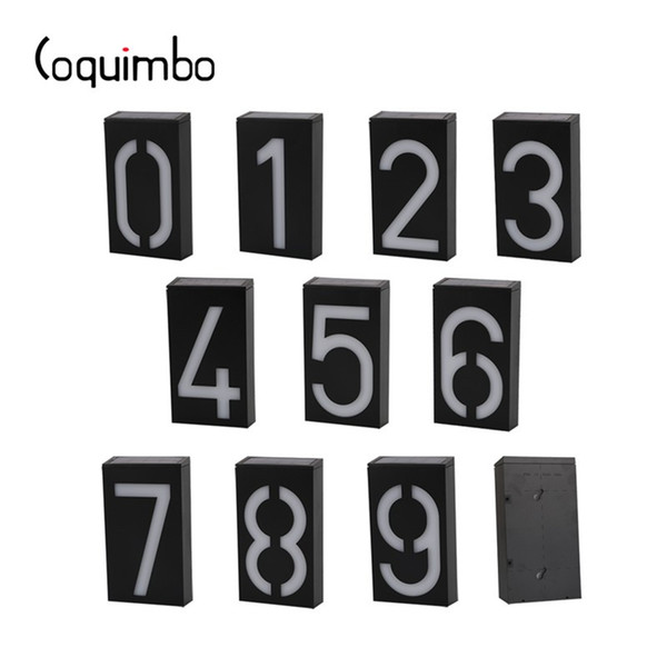 Coquimbo Solar Panel Number Digit Plate Solar Lamp LED Light Sign For House Hotel Plaque Mailbox Garden Lamp Doorplate Lamp
