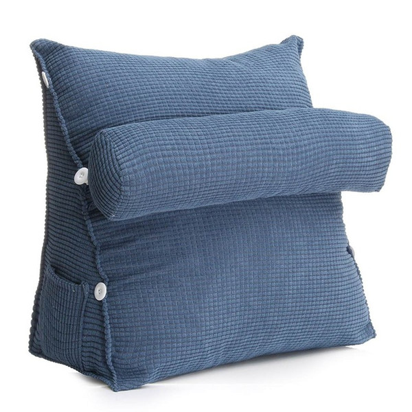 Astonishing Triangle Sofa Cushion Back Pillow Bed Backrest Office Chair Pillow Support Waist Cushion Lounger Tv Reading Lumbar Home Decor Papasan Chair Cushion Short Links Chair Design For Home Short Linksinfo