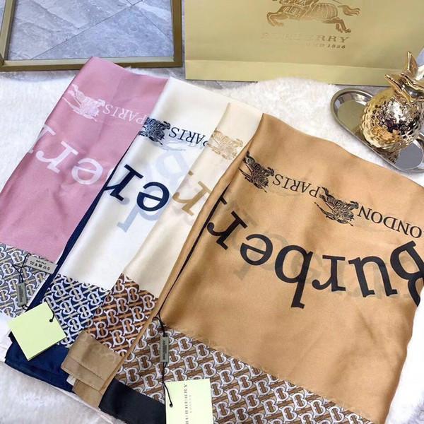 Le foulard classique du créateur de mode lettre Le nouveau motif pour femme soie foulard en cachemire Châle foulard pour femme