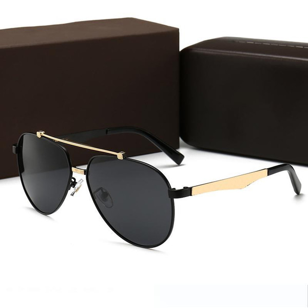 Fashion Men Women Designer 2019 Sunglasses Brand Luxury Sun Glasses With Metal sign Oversized glasses Sunglass