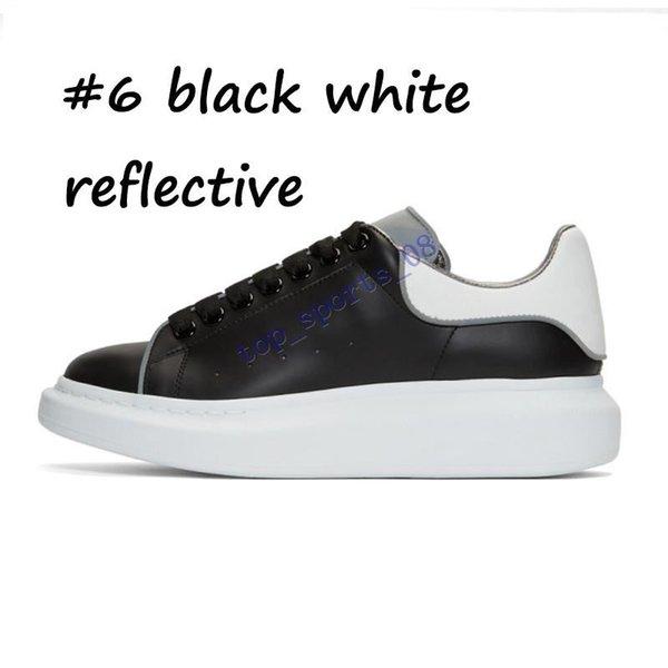 6 أسود أسود عاكس