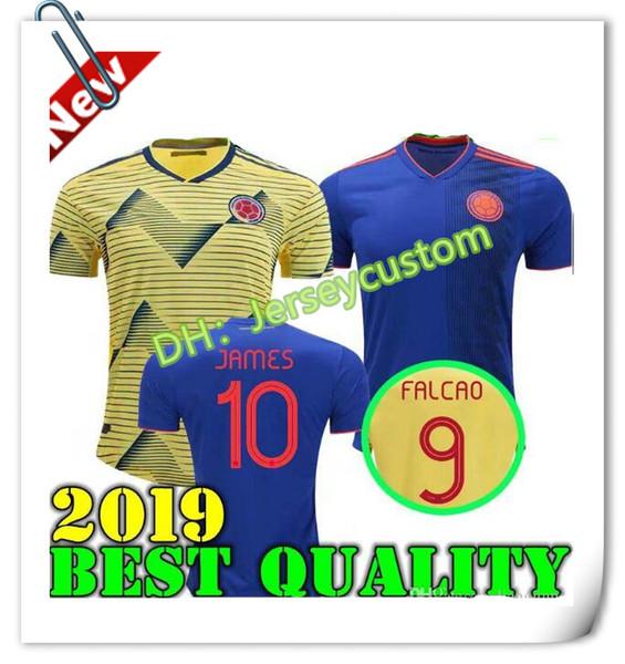 2019 2020 NUEVA camiseta de la Copa América Colombia 2018 camisetas de fútbol de casa de Colombia 19 20 de distancia FALCAO JAMES CUADRADO TEO BACCA camiseta de fútbol