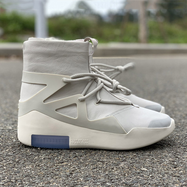 HOT Sale Air Fear of God 1 Men Shoes FOG Boots Light Bone Sail Basketball Shoes Men Sports Designer Zoom Sneakers Size 5.5-12