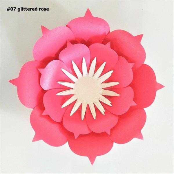 Glittered Rose Red