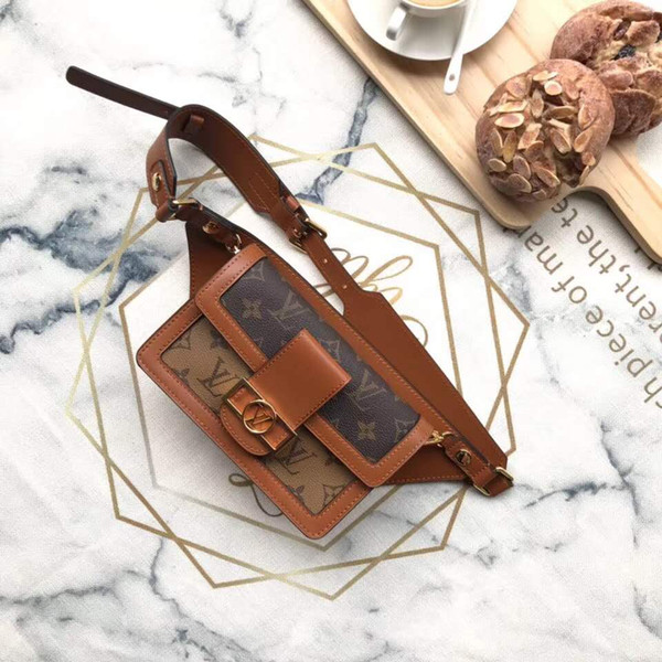 New 2019 High quality waist bag Classic Women Genuine Leather Handbag Causal Hobos Female Shoulder Bag brand twist top quality waist bag