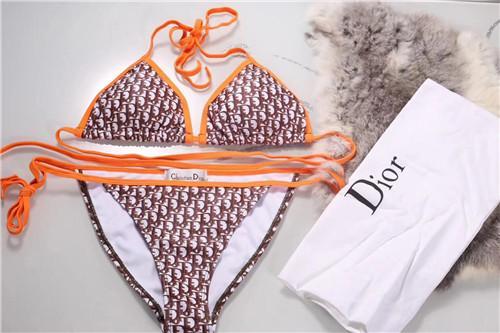 2019Biquíni de luxo, projetado para o verão conjunto de biquíni de duas peças para mulheres, design de impressão de monograma multicolorido