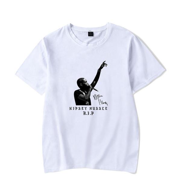 Горячая рэппер nipsey hussle с принтом футболка с короткими рукавами для мужчин и женщин Harajuku Hip Hop с коротким рукавом футболка с принтом