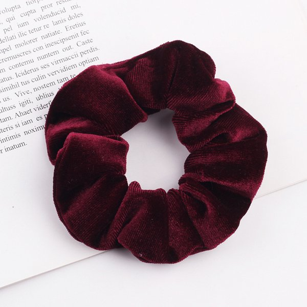 Bordo Saç Scrunchies