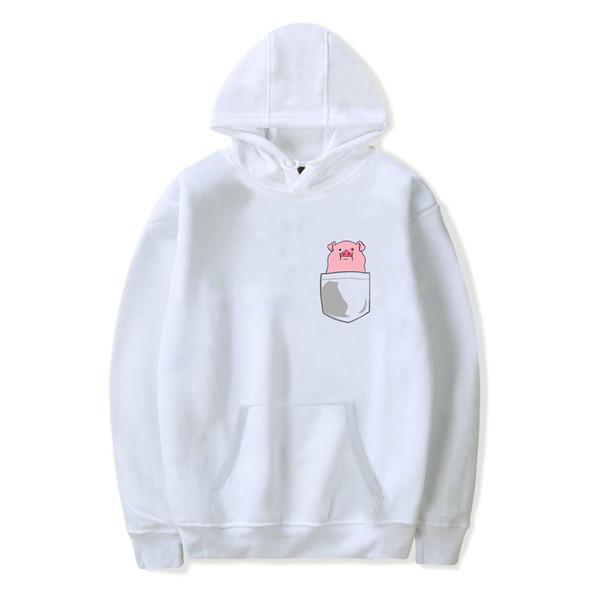 fashion design men women Hoodies Pullover pig cartoon cute printed casual Pocket Long Sleeve Harajuku Hooded Sweatshirts tops