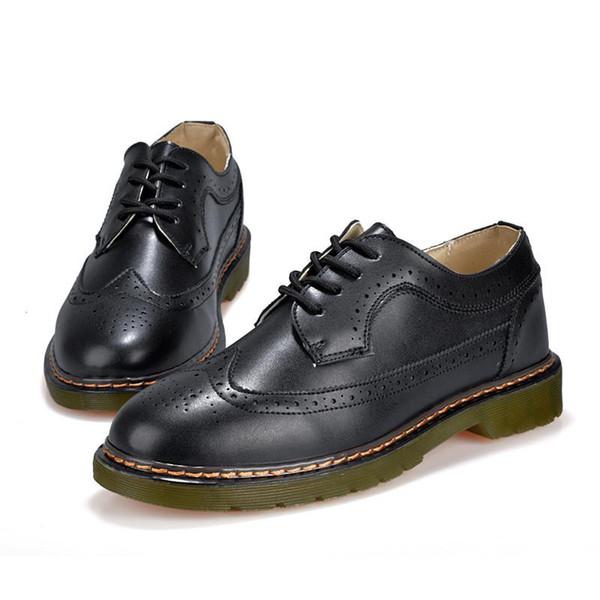 2019 NOuvELLE Taille véritable marque Hommes Chaussures en cuir Chaussures Printemps Oxford Fashion Designer Casual Male mocassins en cuir