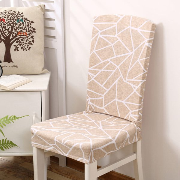 1/2/4/Geometry Spandex Chair Cover Dining Washable Slipcover For Seat  Elastic Kitchen Chair Covers Stretch Furniture Covers Dining Room Chair  Seat ...