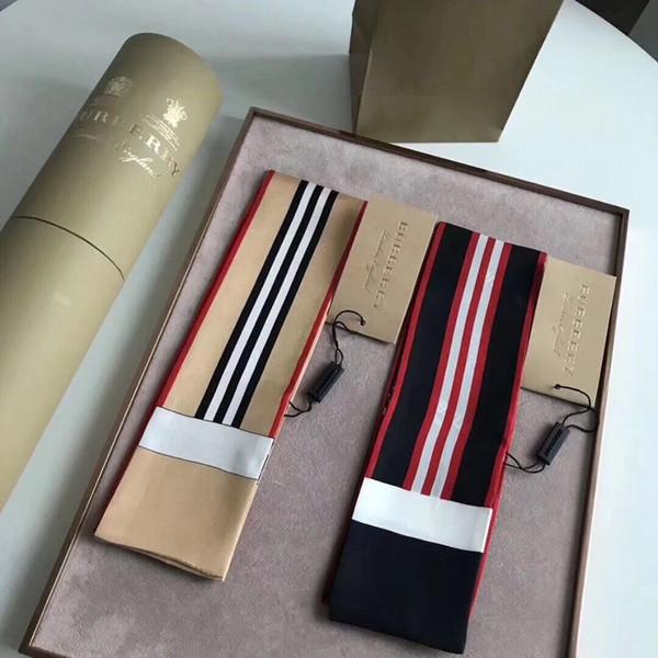 Burb Luxury Designer SACCHETTO di seta Borsa sciarpa Fasce da donna scraves di seta 100% Sacchetto di seta di alta qualità scavare fasce di capelli Bands signore sciarpa