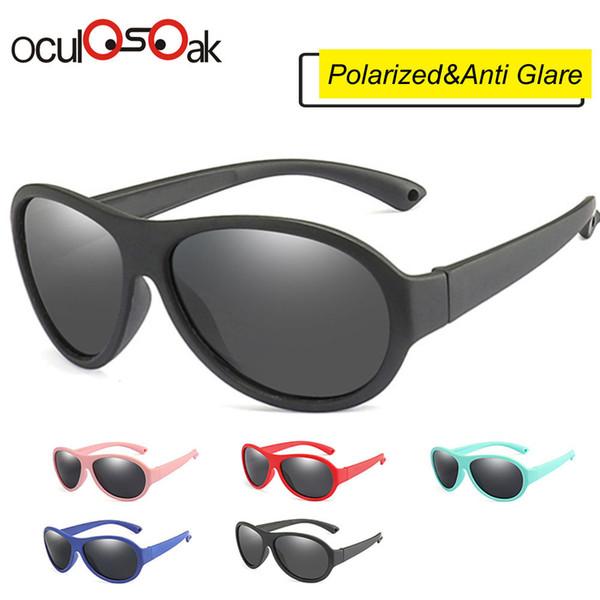 4ff4cac9e2 Gafas de sol polarizadas para niños Gafas de sol ovaladas para niños Niñas  Niños Silicona Uv400