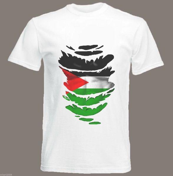 Palestinian Flag T-shirt See Muscles Through Ripped T-shirt Sizes S - Xxxl Classic Quality High T-shirt