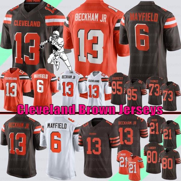buy online 172e8 d1436 6 Baker Mayfield Cleveland Browns Jersey 95 Myles Garrett 21 ...