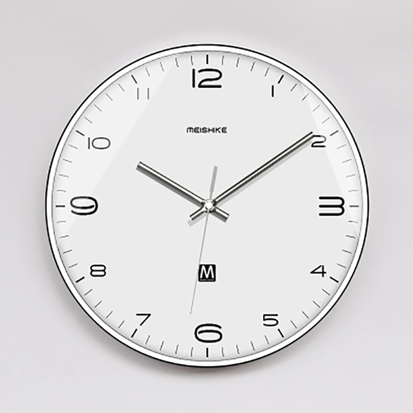 Silencioso Relógio De Parede Criativo Design Moderno Nordic Relógio De Parede Eletrônico De Metal Relógios de Parede Relógio Casa WBY059