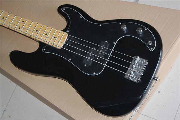 PRECISION BASS Basse électrique à quatre cordes avec corps noir et touche en érable