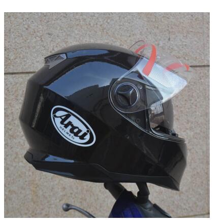 Casco Moto Nero Con Visiera Parasole Interna Doppia Visiera Doppia Lente Racing Motocross Casco Flip Up Nella Stagione Invernale
