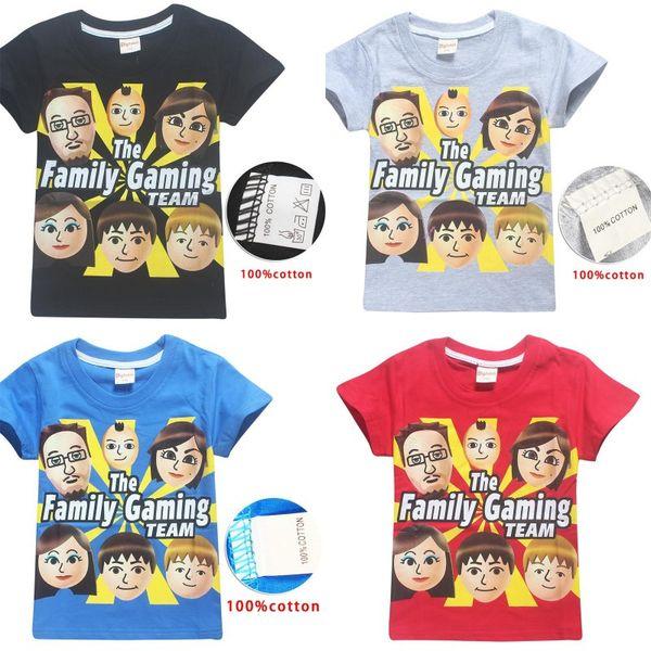 Roblox fgteev the family game summer children/'s cotton short-sleeved T-shirt