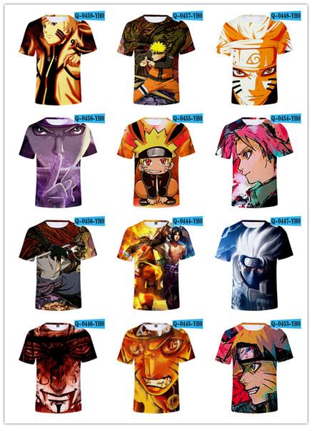 Naruto Tshirts Anime t shirt Nouveau Design Hommes Femmes Jeunes Enfants Top Tees Manches courtes 3d imprimé Crewneck Outwear T-shirts D'été De Mode Cartoon