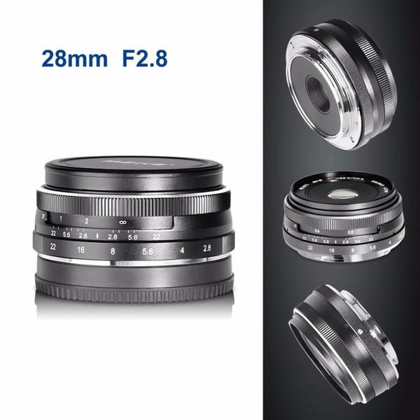 Objectif de focalisation manuelle fixe 28 mm f / 2.8 pour Olympus Appareil photo sans miroir APS-C avec système APS-C EM1 M10 EP5 EP-L3 PEN-7 GF5 G