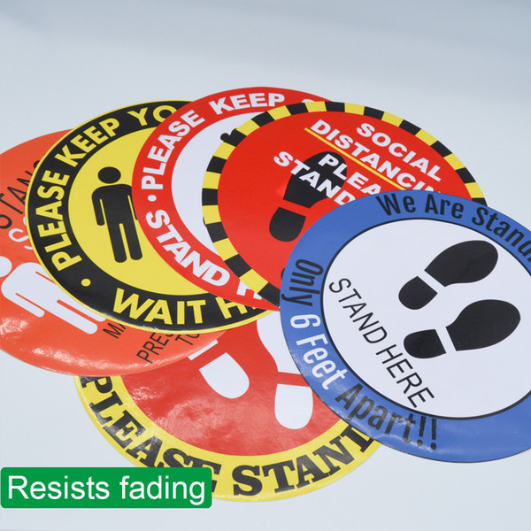 best selling market Floor Marking Tape keep distance 6ft sign public occasions floor sticker For school line up Floor Social Distance Sticker