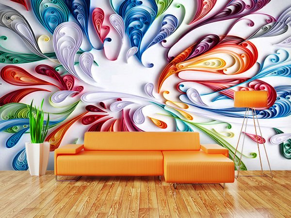 Modern 3D Photo murals wallpapers Art abstract 3D wallpaper for living room TV backdrop 3d wall papers DIY Home Decoration