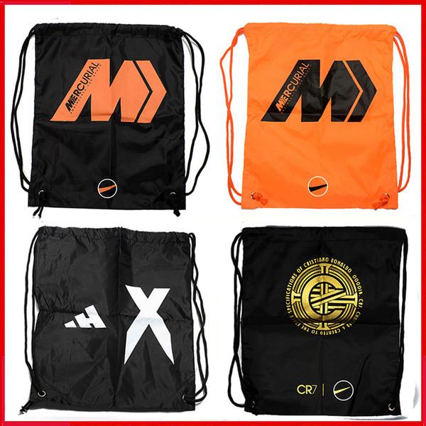 2019 Original Mens High Ankle Football Boots Hypervenom Soccer Cleats Phantom VSN Bag Mercurial Superfly VI CR7 Predator Soccer Shoes Bags