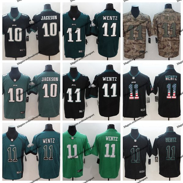 new styles 2d88c 1ef15 2019 2019 Camo Salute To Service Philadelphia 11 Eagles Carson Wentz  Football Jersey 10 DeSean Jackson Vapor Untouchable Stitched Football Shirt  From ...