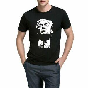 BlaCustom Mens Donald Trump Godfather The Don Cool Casual T-Shirts Men Tee
