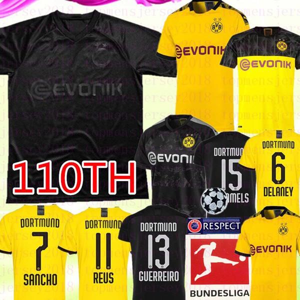 Thai 110e Borussia Dortmund SANCHO RISQUE BRANDT de football REUS HUMMELS PHILIPP Hommes Enfants KIt camiseta de futebol 2020