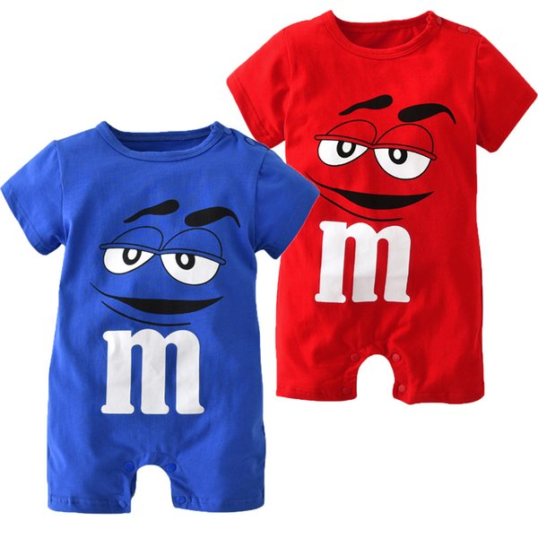 European and American Children's Clothing Hot Sale 2017 Summer Models Boys and Girls Baby Cotton Short-sleeved Suits Romper