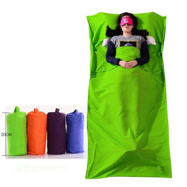 Novo ultraleve ao ar livre portátil de viagem hotel saco de dormir tanque interno de poliéster portátil único saco de dormir saco de dormir camping c18112601